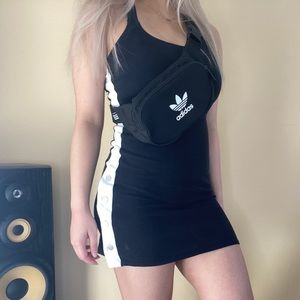 Garage Black Fitted Dress (adidas style dress)